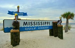 Gulfport Welcome sign